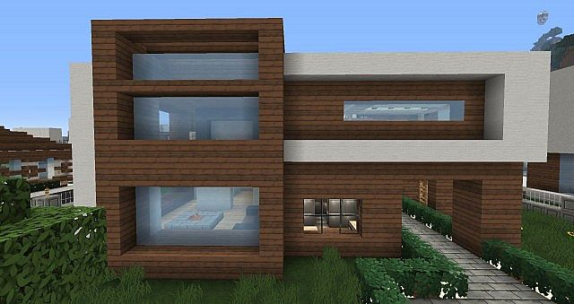 Maison moderne les industries minezach for Modele maison minecraft